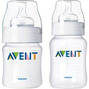 Kit 2 Mamadeiras Anti-Cólicas Philips Avent 125ml + 260ml