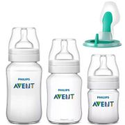 Kit 3 Mamadeiras Classic 125 260 e 330ml Anticolica + Airfree (Antirefluxo) - Avent