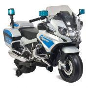 Moto BMW Policia Elétrica 12V Branca - Bandeirante