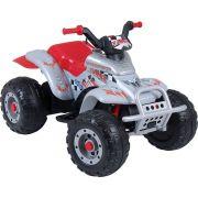 Quadriciclo Infantil Corral T-Rex Prata 12V - Peg-Pérego