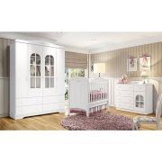 Quarto de Bebê Provençal Branco HP 4 portas - Henn