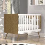 Quarto de Bebê Twister 2 Liso Imbuía 4 portas com Pés - Tcil