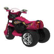 Super Moto Gt Turbo Elétrica 12V Bandeirante Rosa