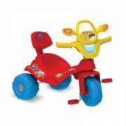 Triciclo Tonkinha Vermelho Passeio e Pedal com Haste Removível - Bandeirante