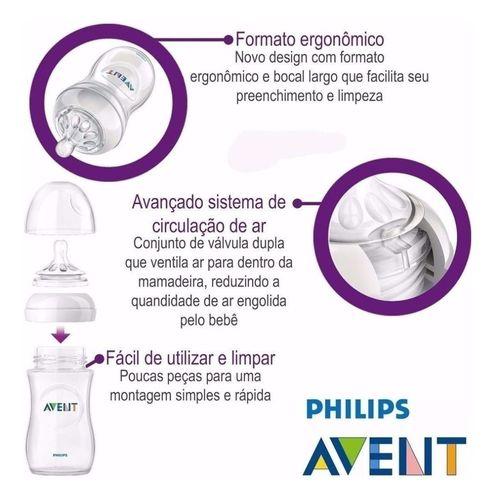 3 Mamadeiras Pétala + Chupeta Freeflow + Escova + Dosador - Philips Avent Rosa