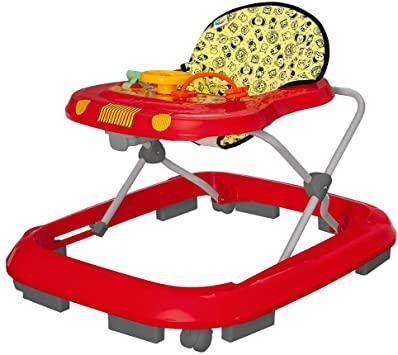 Andador Infantil Tutti Baby Safari Musical vermelho