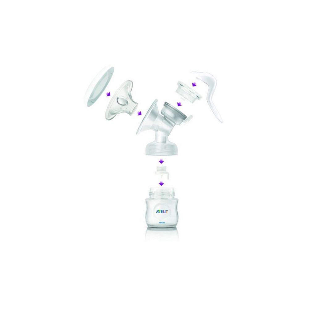 Avent Kit Aleitamento 1 - Copos Para Armazenamento Com Tampa + Extrator De Leite Petála Manual