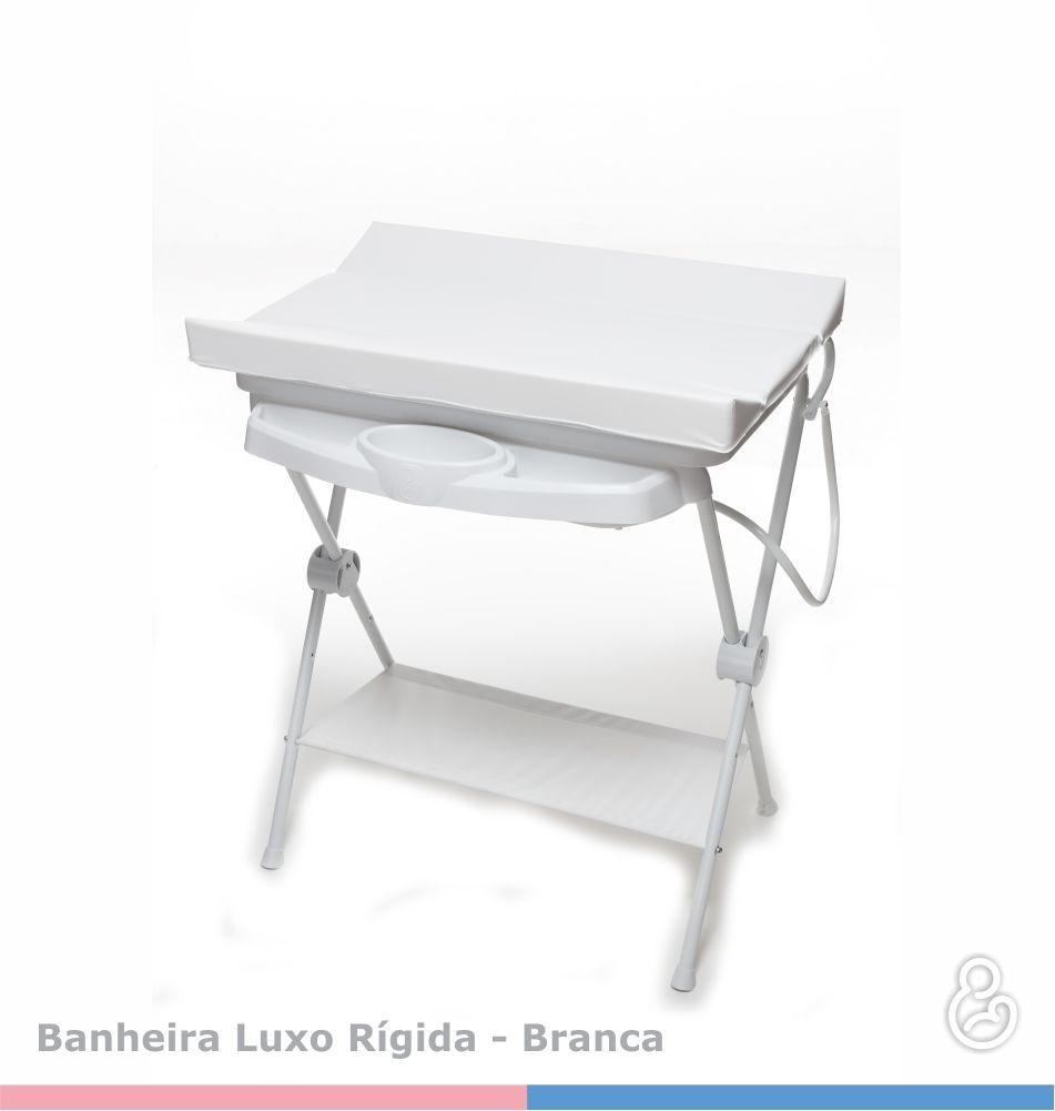 Banheira Luxo Rígida Branco com Trocador - Galzerano