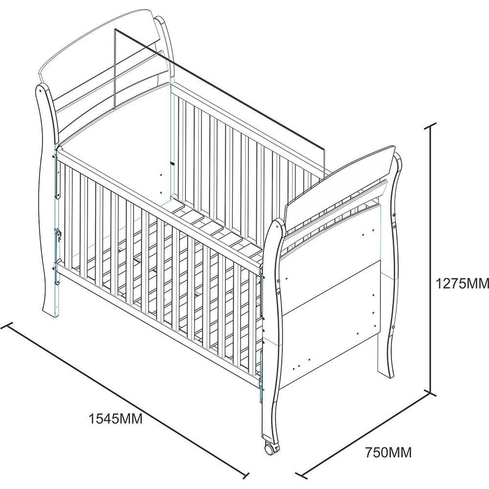 Berço Minicama Crystal Tcil + Colchão Ortobom Baby Physical