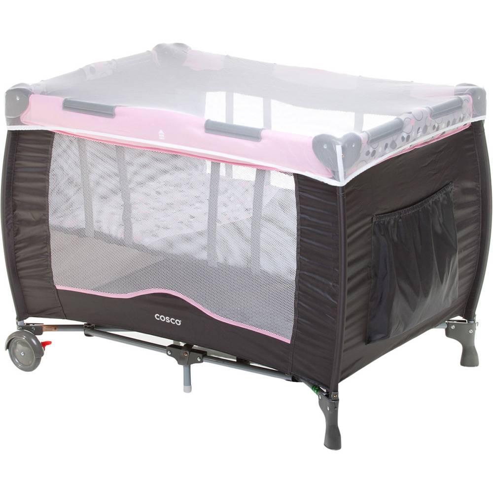 Berço Portátil Desmontável Toybar Rosa - Cosco