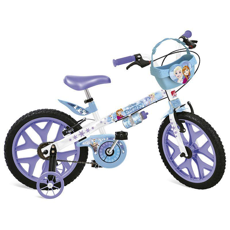 Bicicleta Infantil Frozen Disney Aro 16 Cestinha - Bandeirante