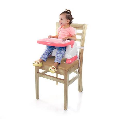 Cadeira Alimentação Bebê Portátil Fun Rosa Voyage