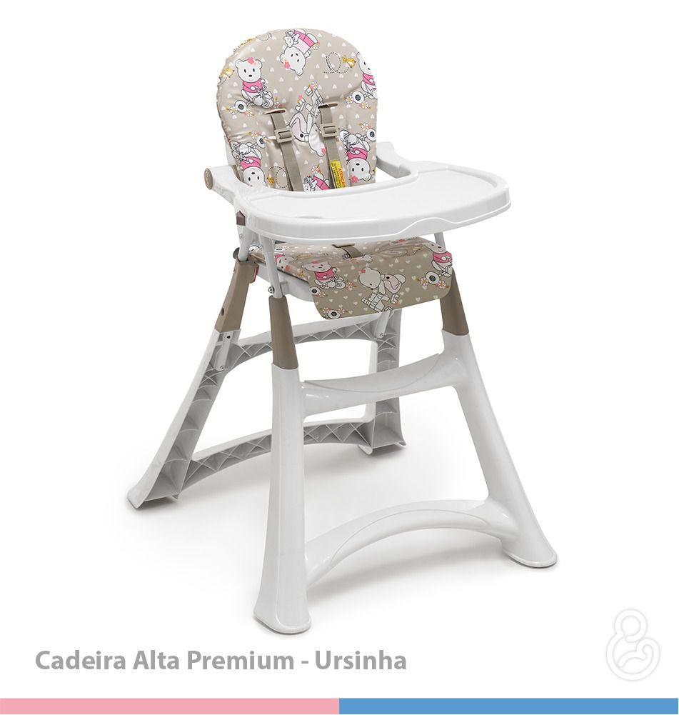Cadeira de Refeição Alta Premium Ursinha - Galzerano