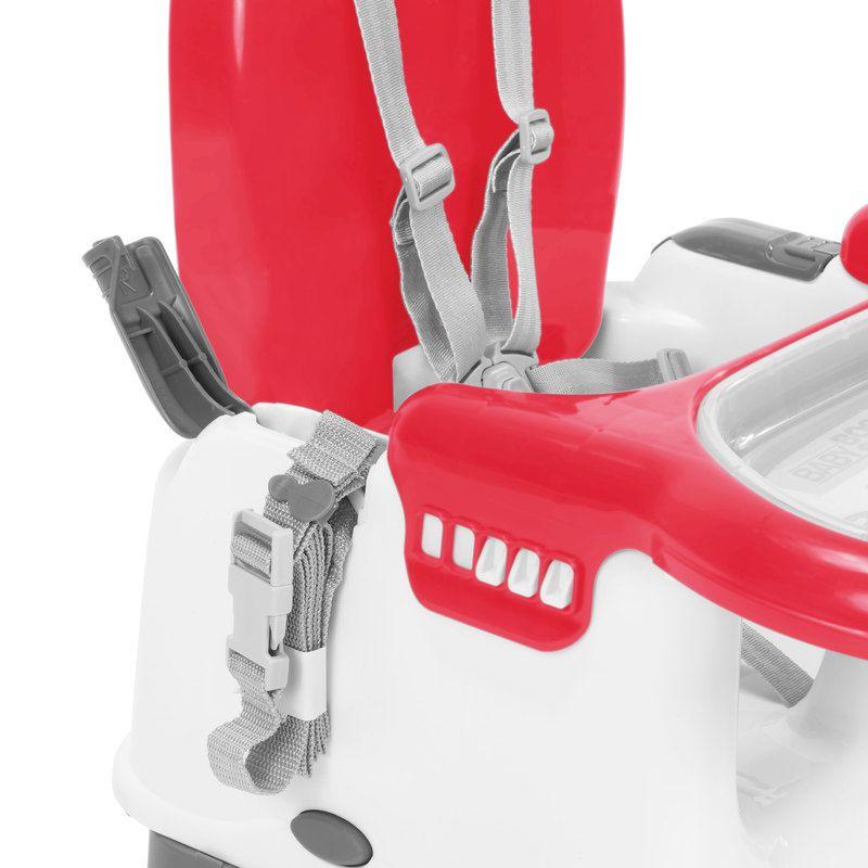 Cadeira De Refeição Portátil - Mila - Vermelha - Infanti