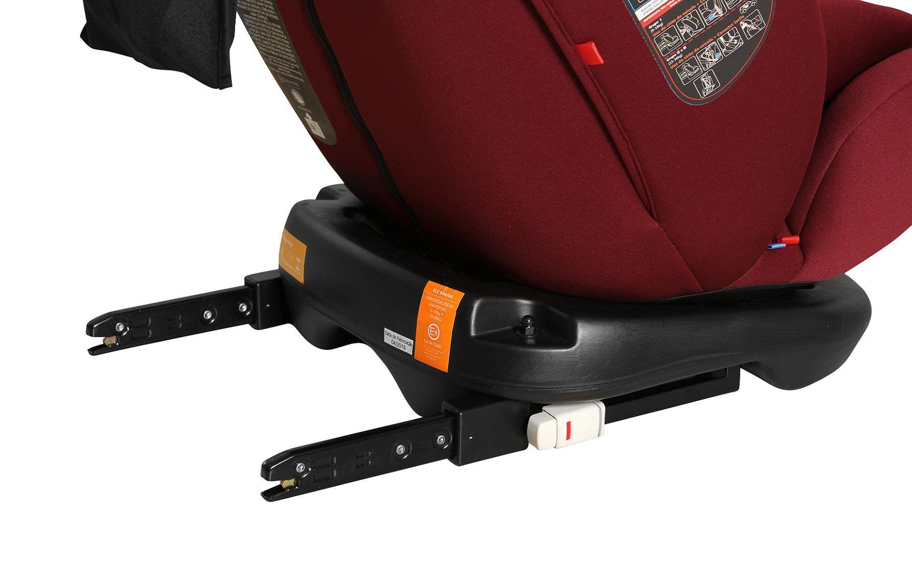 Cadeira para auto Gaia 360º - Isofix de 0 A 36 Kg - Preto Cinza - Galzerano