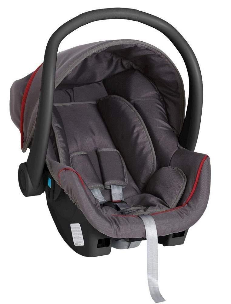 Carrinho 3 Rodas Travel System + Bebê Conforto + Base Apollo Grafite/Vermelho - Galzerano