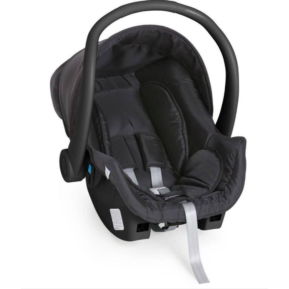 Carrinho Bebê Reversível Maranello II Preto + Bebê Conforto + Base - Galzerano