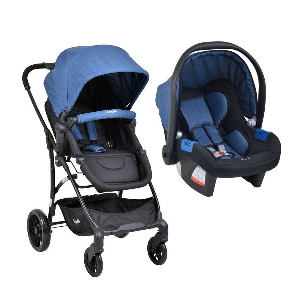 Carrinho Bebe Travel System Burigotto Convert Touring Evolution X Blue