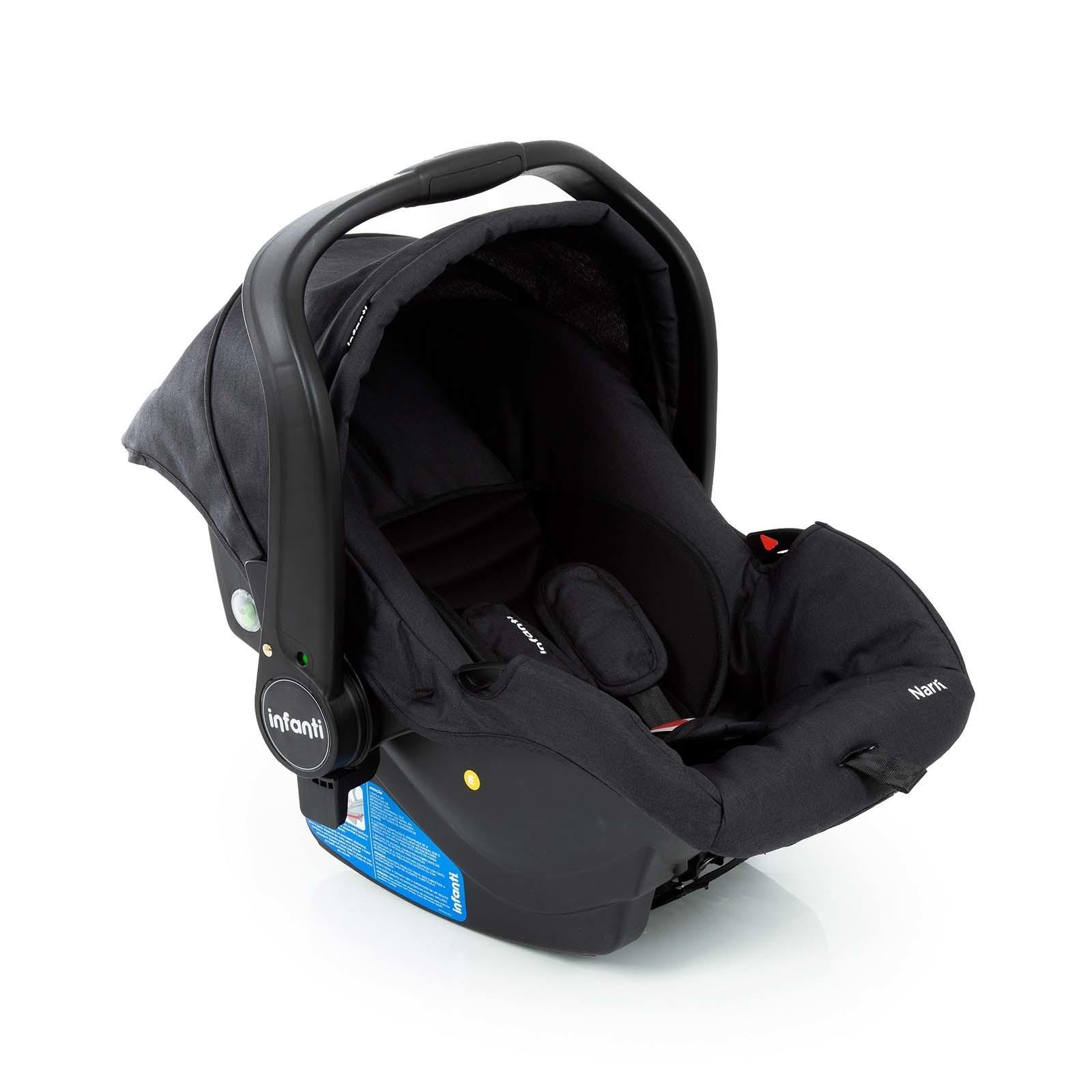 Carrinho com Bebê Conforto Collina Travel System - Black Style- Infanti