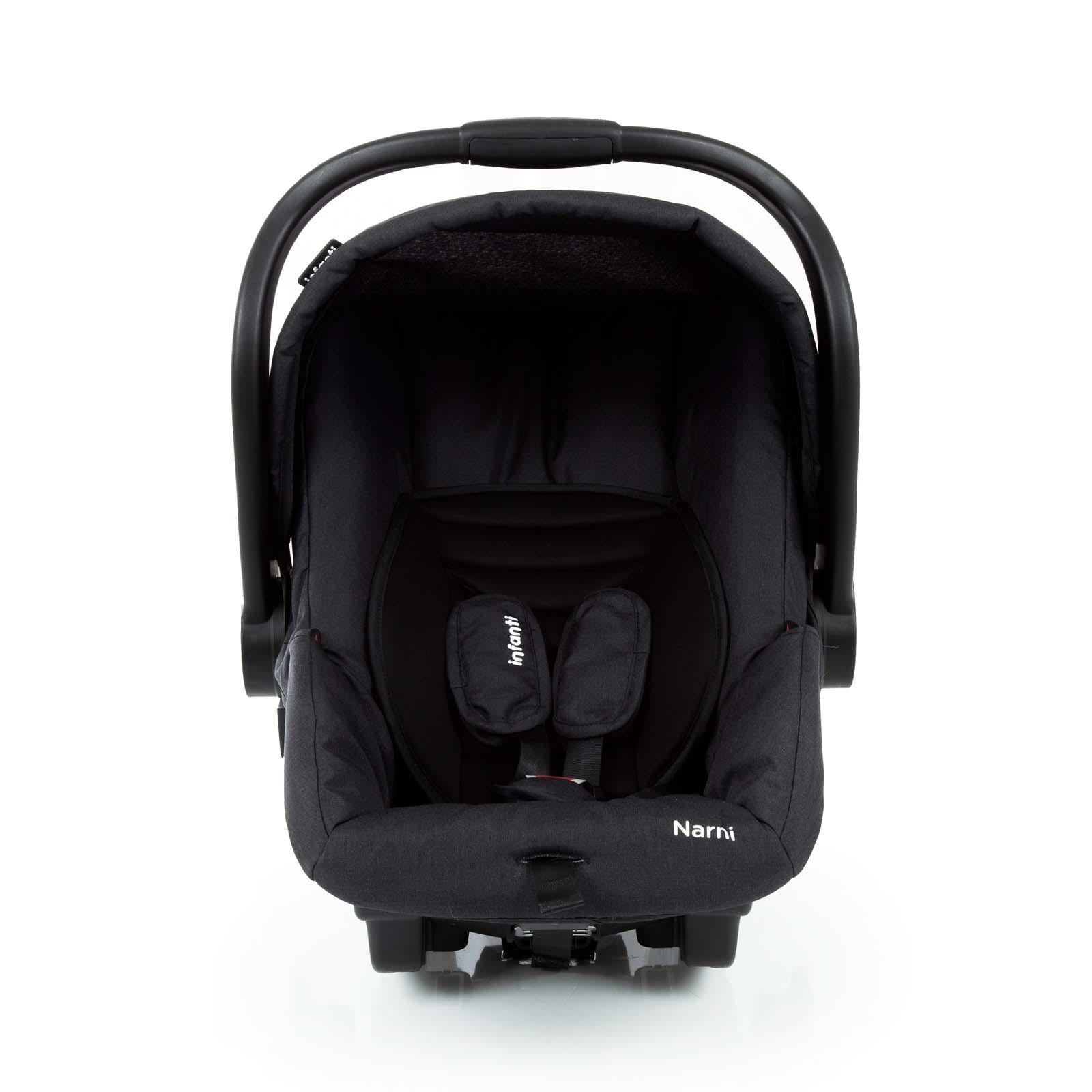 Carrinho Travel System Infanti Collina com Bebê Conforto - Black Style