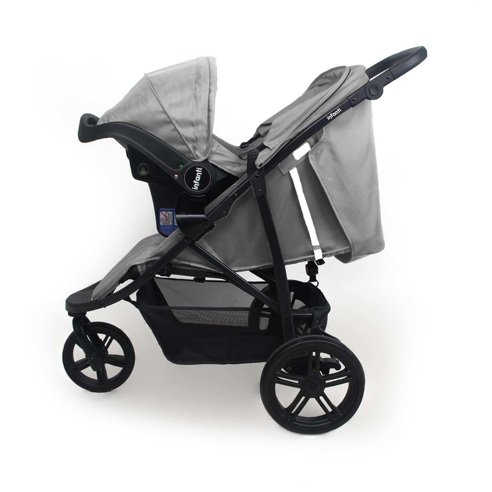Carrinho com Bebê Conforto Collina Travel System - Grey Style- Infanti