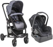 Carrinho de Bebe Bebe Conforto e Base Kiddo Prima Melange Azul