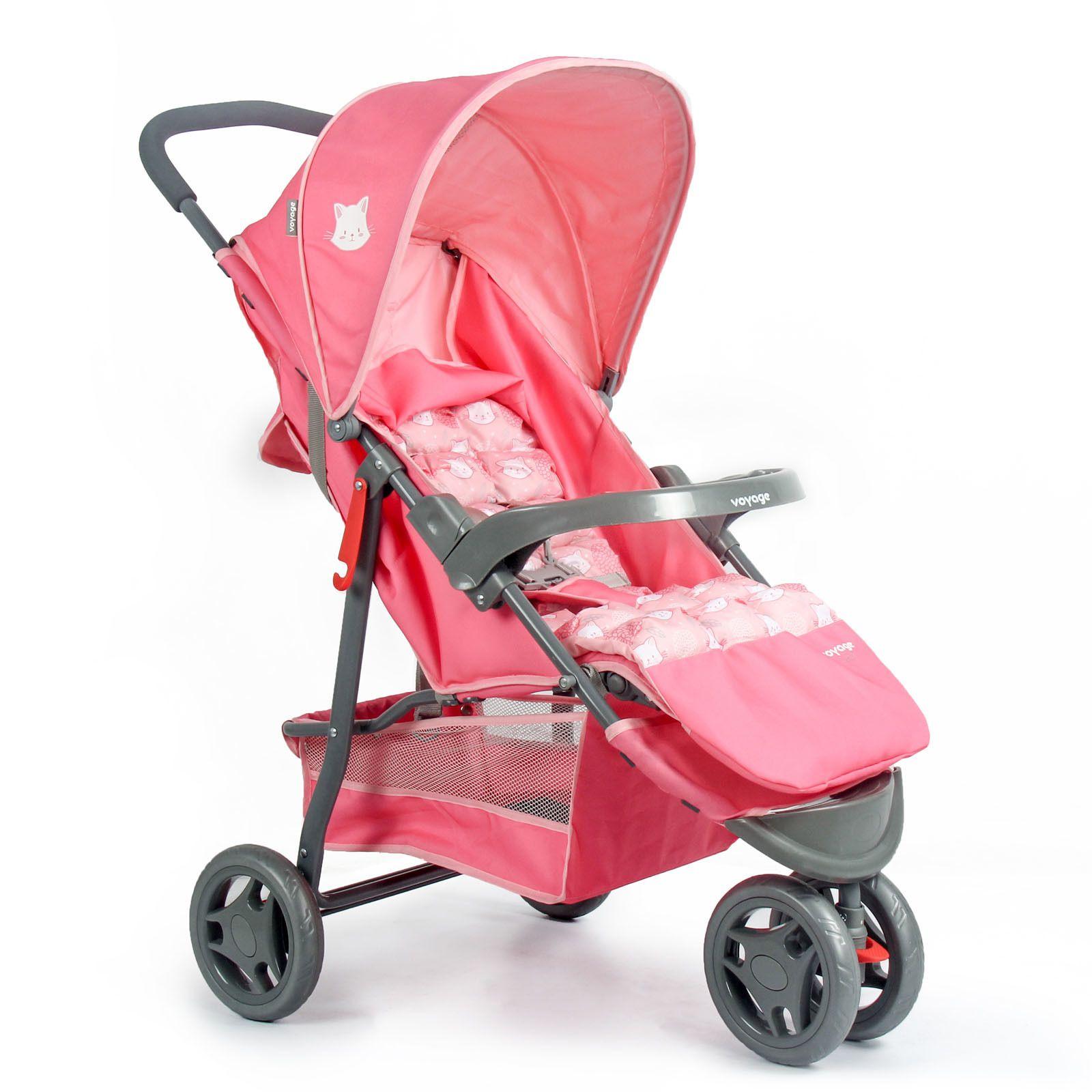 Carrinho de Bebê Delta Rosa - Voyage