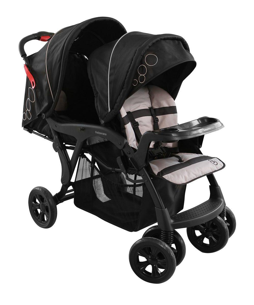 Carrinho de Bebê Doppio Preto (Gêmeos) - Galzerano