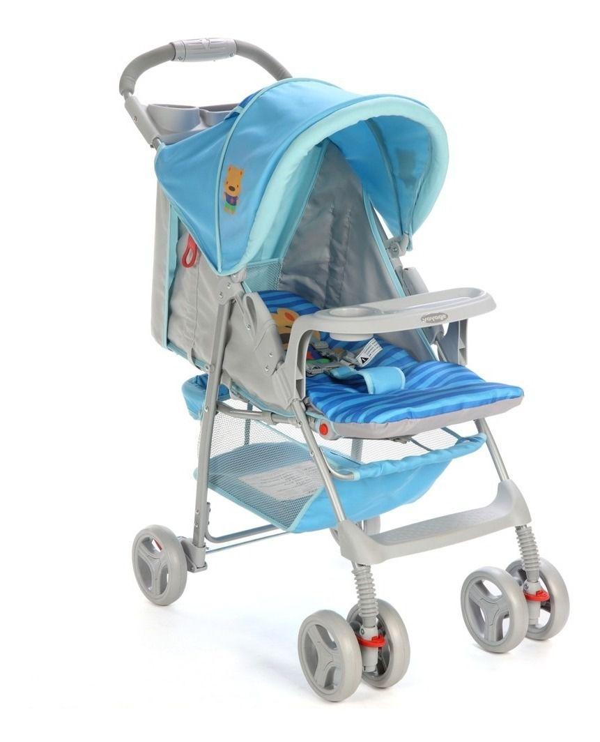 Carrinho de Bebê Fit Azul Puppy - Voyage