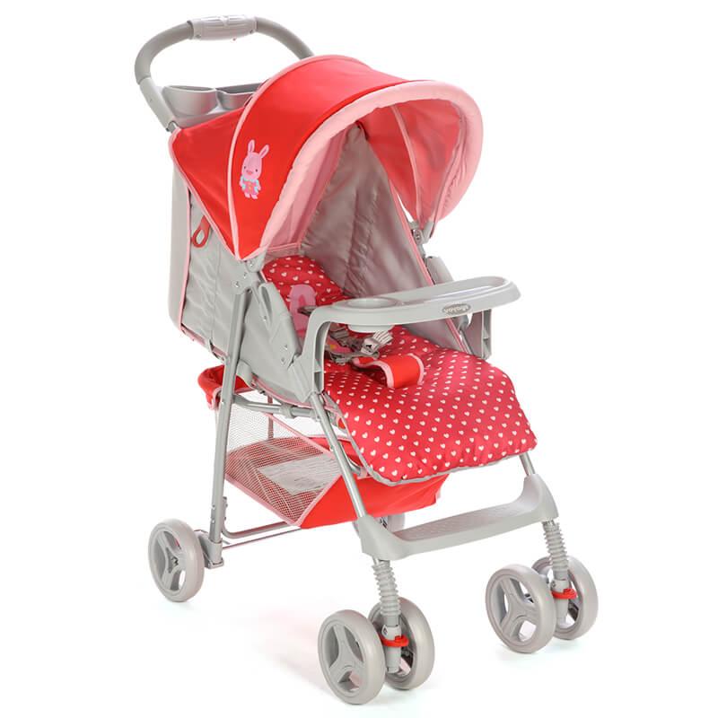 Carrinho de Bebê Fit Rosa Puppy - Voyage