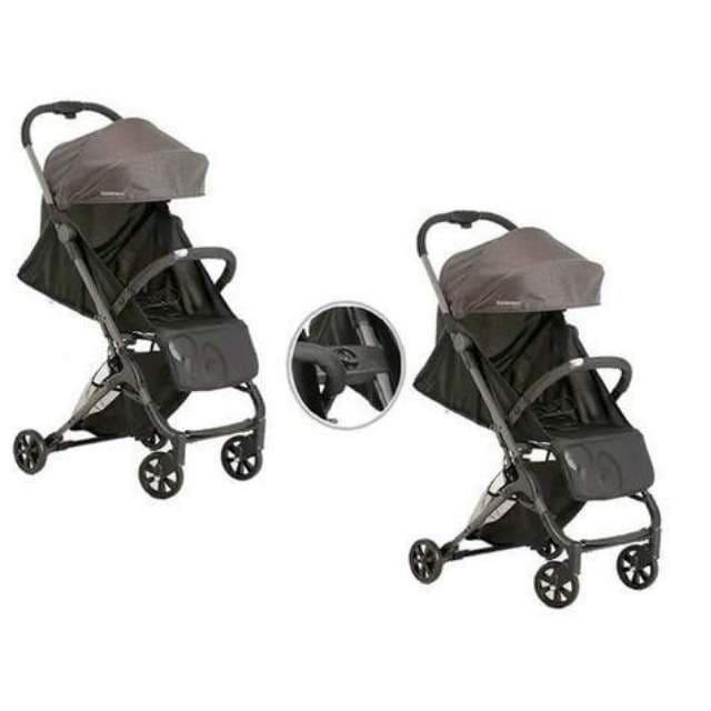 Carrinho De Bebê Galzerano Duolee Para Gêmeos C/ 2 Unidades - Preto