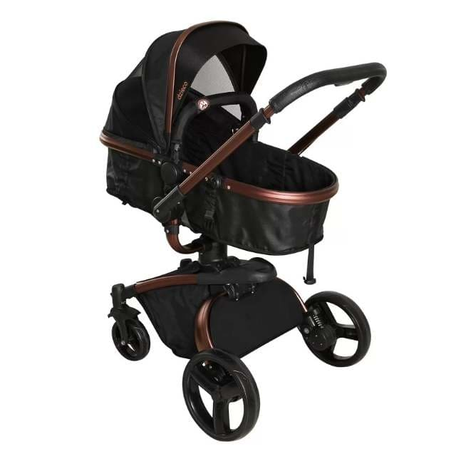 Carrinho de Bebê Galzerano Vulkan 360 Multi Posições – Preto e Cobre