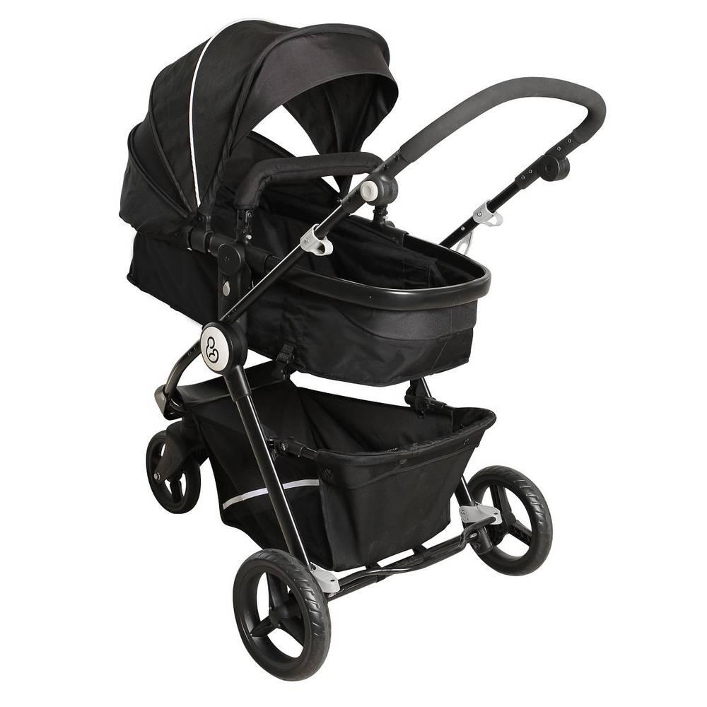 Carrinho de Bebê Golden Black White com Bebê Conforto - Galzerano