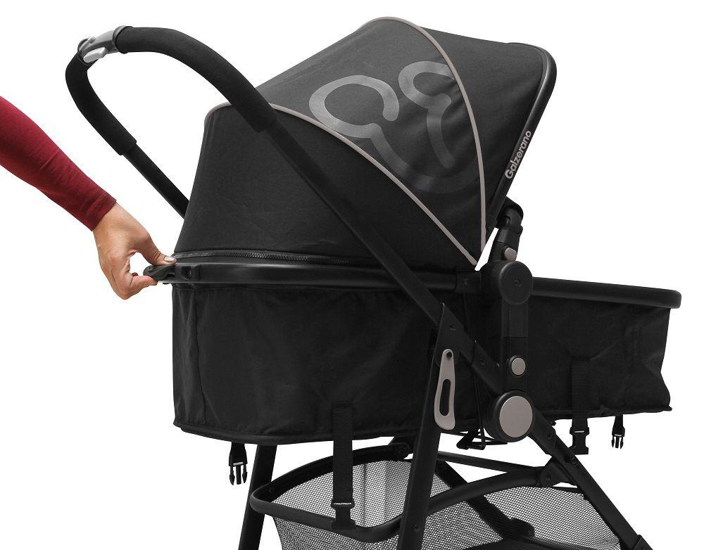 Carrinho de Bebê Moisés Gero Preto - Galzerano