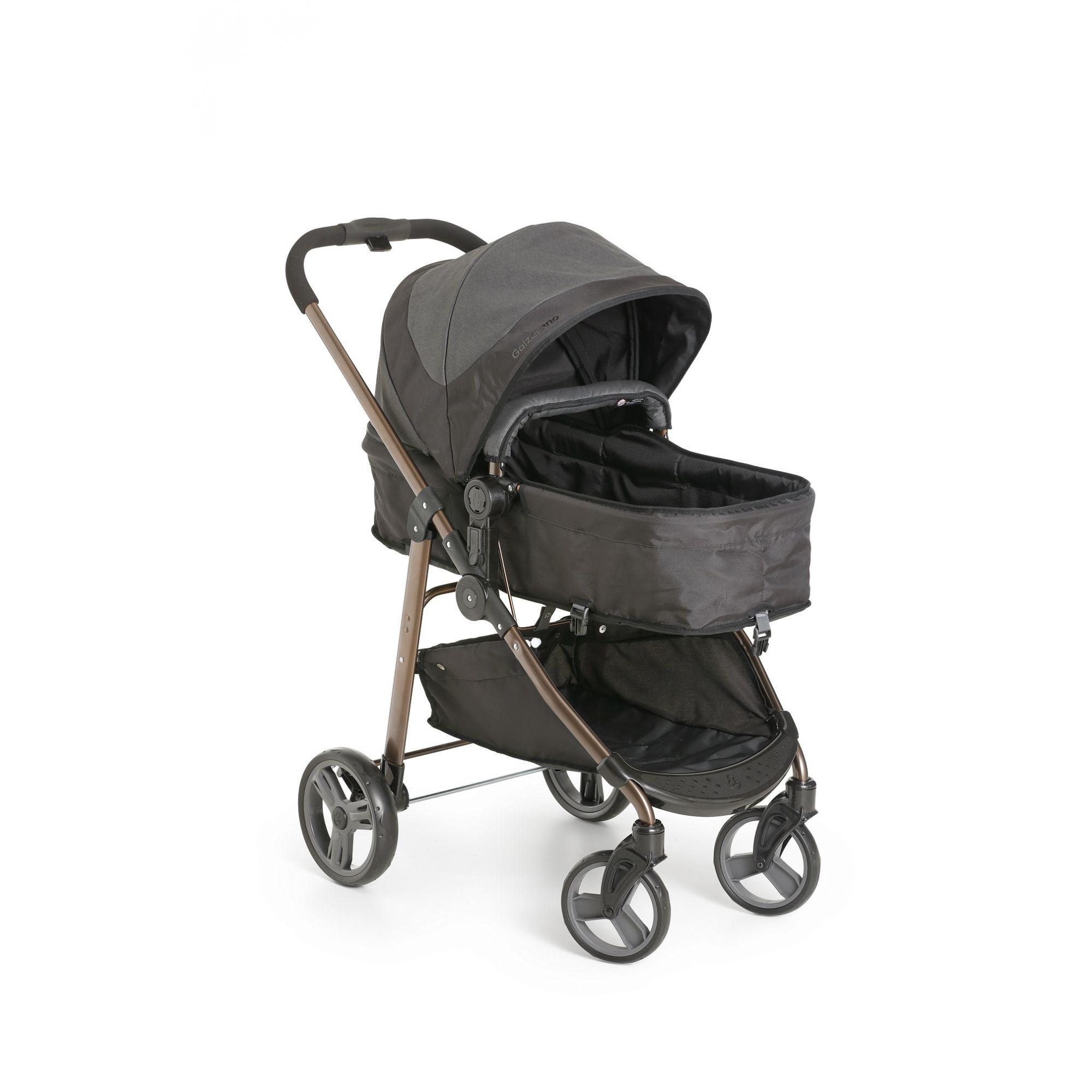 Carrinho de Bebê  Moisés Olympus Black - Galzerano