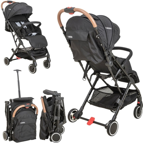 Carrinho De Bebê Sprint Preto + Bebê Conforto Casulo Click + Base - Kiddo