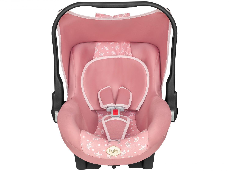 Carrinho de Bebe Thor Rosa Coroa com Bebe Conforto Tutti Baby