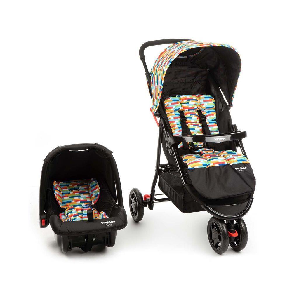 Carrinho de Bebê Travel System Delta Colorê - Voyage