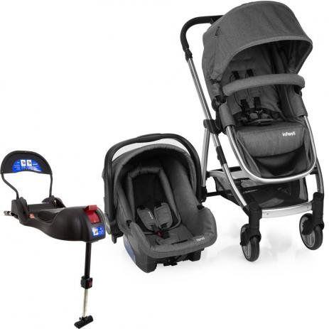 Carrinho de Bebê Travel System Epic Lite Duo + Base Isofix Infanti grey
