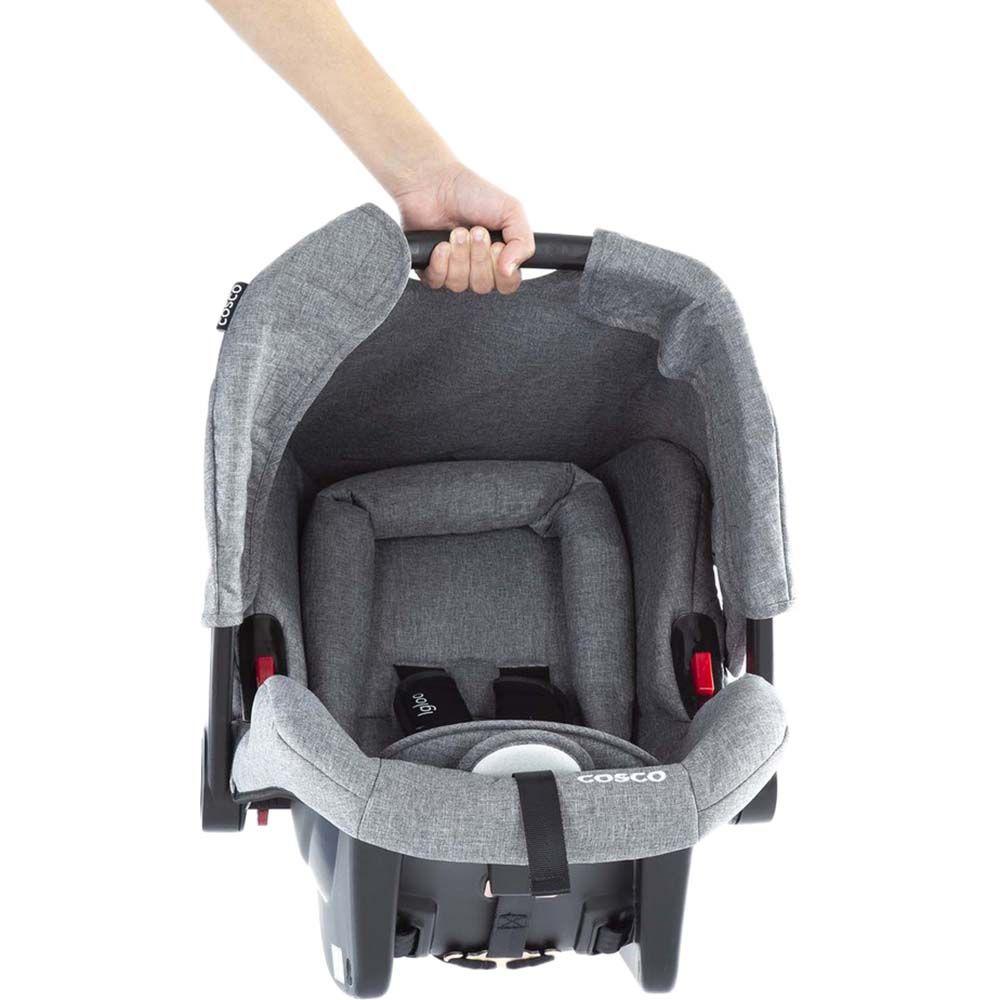 Carrinho de Bebê Travel System Jetty Duo Cinza Mescla - Cosco