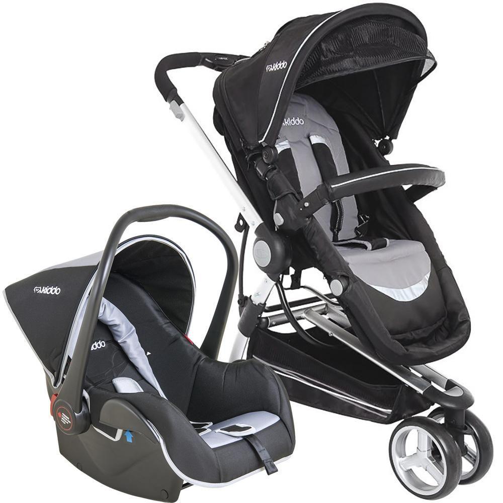 Carrinho de Bebê Travel System Kiddo Compass II Preto + Casulo Click