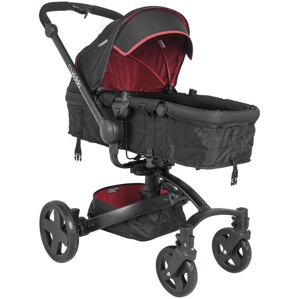 Carrinho de Bebê Travel System Kiddo Spin 360º + Caracol Vermelho