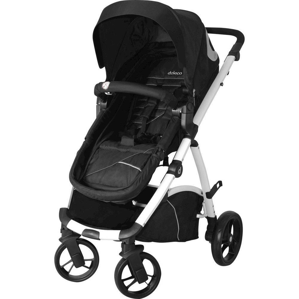 Carrinho Travel System Galzerano Maly - Preto e Branco + Bebê Conforto