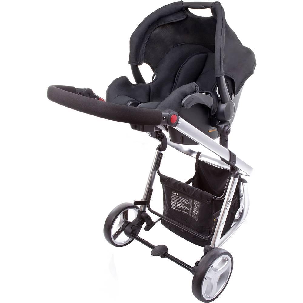 Carrinho de Bebê Travel System Mobi Black & Silver - Safety 1st