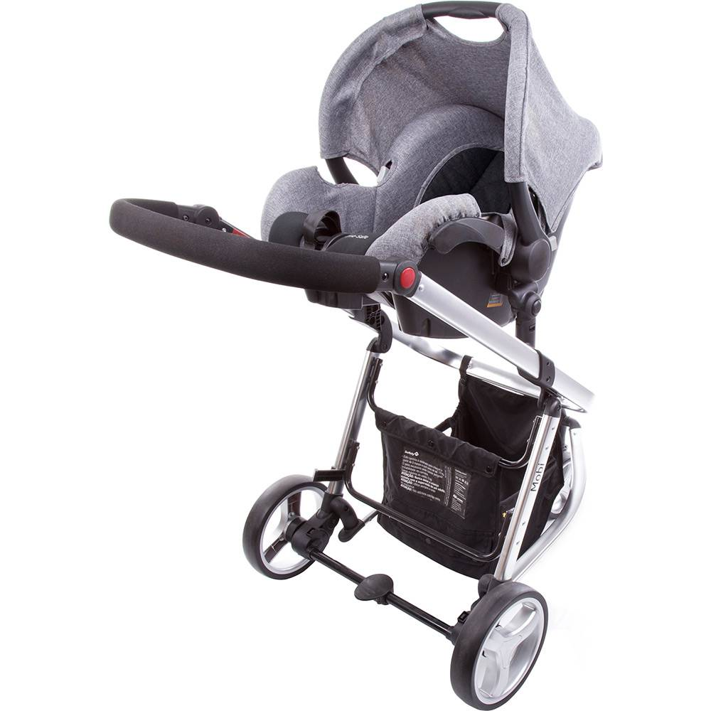 Carrinho de Bebê Travel System Mobi Gray Denin Silver - Safety 1st