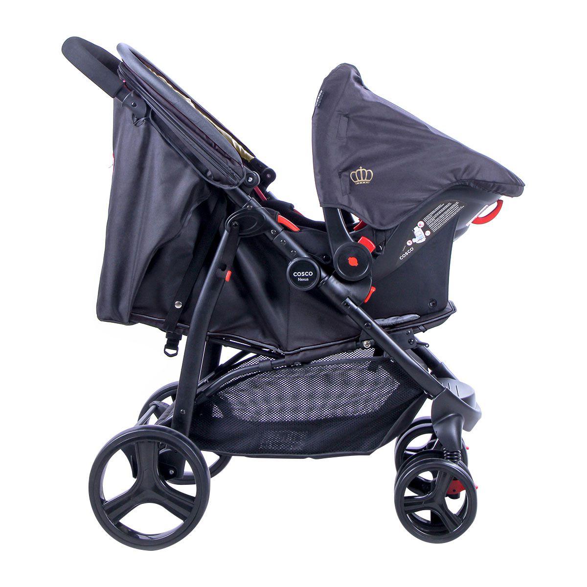 ... Carrinho de Bebê Travel System Nexus Preto + BB conforto - Cosco -  Tbabykids 1e8e706df81