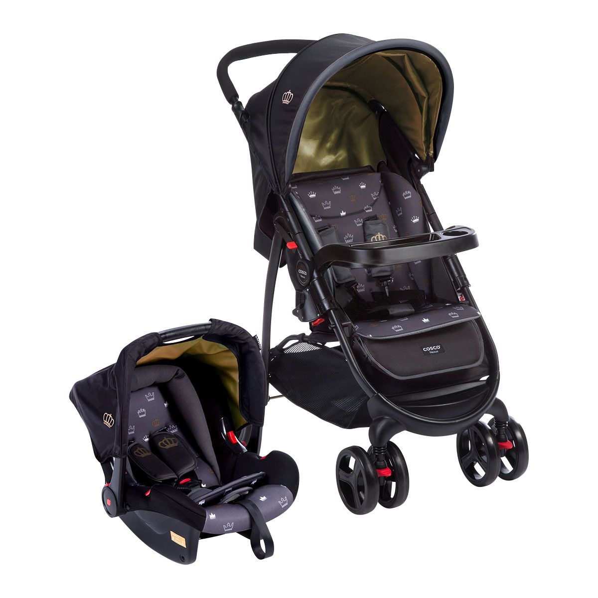 Carrinho de Bebê Travel System Nexus Preto + BB conforto - Cosco -  Tbabykids ... 8b440a11b0d