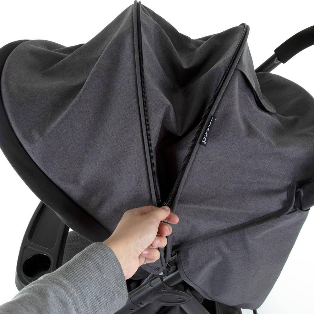 Carrinho de Bebê Travel System Nexus Preto Mescla Duo com Bebê Conforto - Cosco