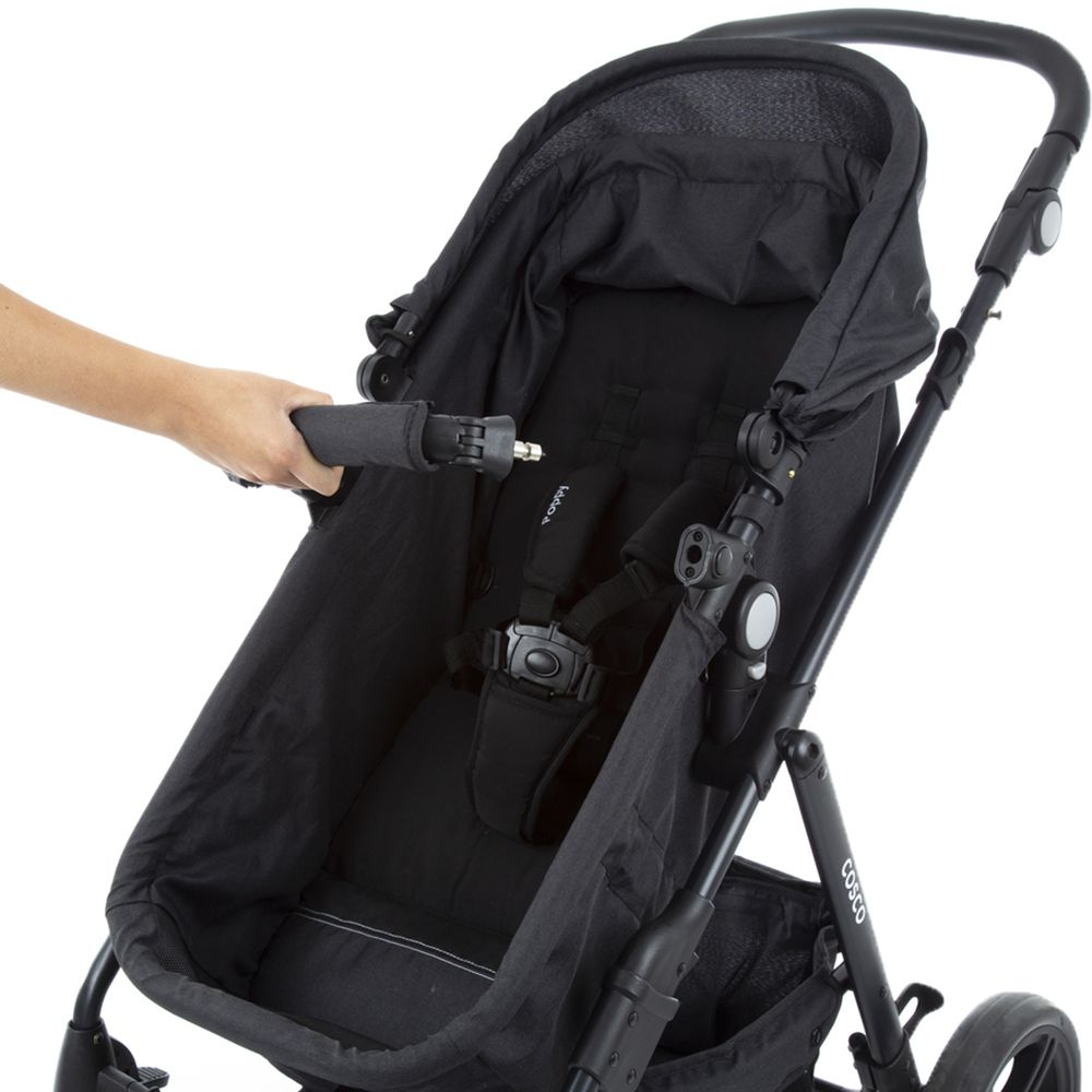 Carrinho de Bebê Travel System Poppy Duo Preto Mescla - Cosco