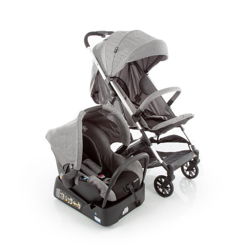 Carrinho De Bebê Travel System Skill Trio Grey Denim - Safety 1st